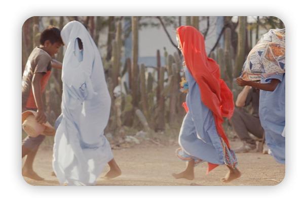 Niños de la Guajira que apoya Campi con sal Marina